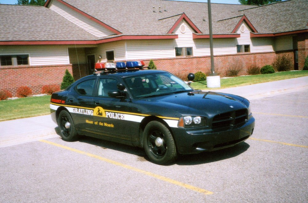Archive page 8 ajrs emergency vehicles grayling police mi is another department that has a dodge charger in its fleet this unit sports an older style vector light bar aloadofball Gallery